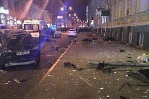 В полиции уточнили количество пострадавших в результате ДТП в Харькове, в сети появилось видео