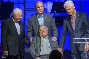 5 экс-президентов США собрали 31 миллион  для пострадавших от ураганов