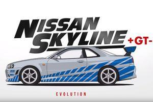 Эволюция легендарного Nissan Skyline за две минуты