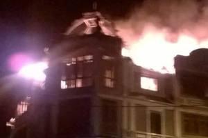 В Киеве горело общежитие для переселенцев и добровольцев