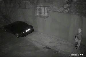 СБУ показала видео закладывания взрывчатки под автомобиль полковника Хараберюша