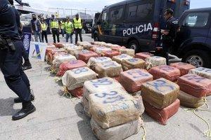 В Испании конфисковали более тонны кокаина