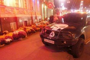 Сеть возмутил внедорожник с черепом на месте смертельного ДТП в Харькове