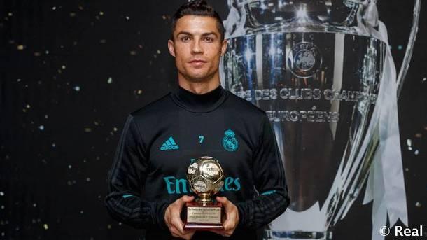 Роналду получил приз лучшему бомбардиру следующего года поверсии IFFHS