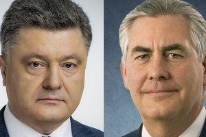Президент Украины провел телефонный разговор с Госсекретарем США