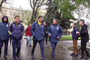 Футболисты сборной Украины прогулялись по Львову