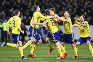 Шведы минимально обыграли Италию в стыковом матче ЧМ-2018