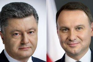 Порошенко поздравил Дуду с независимостью Польши по телефону