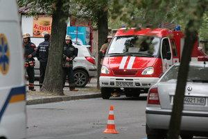В Киеве из пожара спасли женщину