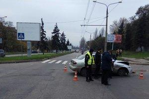 В центре Запорожья двое детей пострадали в аварии