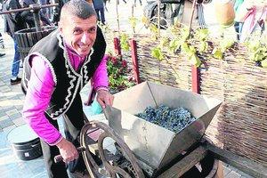 В Одесской области угощали вином и брынзой