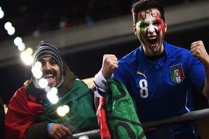 """Трибуны """"Сан Сиро"""" перед игрой Италия - Швеция станут гигантским флагом"""