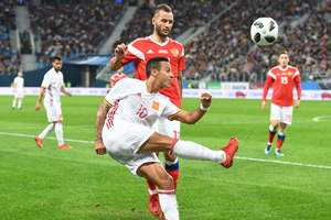 Россия вырвала ничью в матче с Испанией