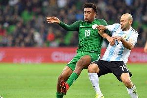 Нигерия сенсационно обыграла сборную Аргентины, проигрывая 0:2