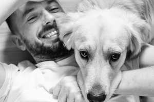 Трогательную встречу собаки с хозяином после трех лет разлуки сняли на видео