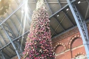 В Лондоне установили необычную рождественскую елку
