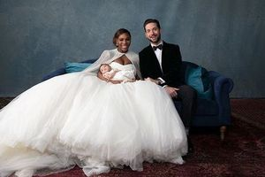 Появились фото со свадьбы Серены Уильямс