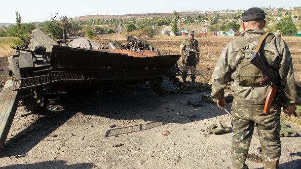 Штаб АТО: всамом начале суток боевики 9 раз нарушили «перемирие» наДонбассе