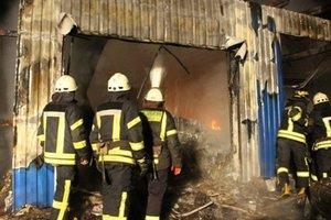 Масштабный пожар в Киеве: появилось фото