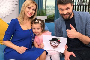 Five year old daughter Lily Rebrik became the host of