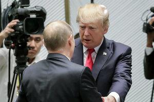Дональд Трамп і Володимир Путін, фото AFP