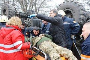 Спасение солдата: появилось видео с места ДТП в Запорожье