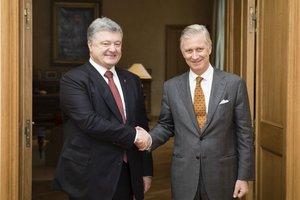 Порошенко пригласил короля бельгийцев в Украину