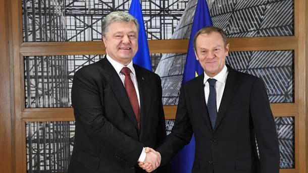 Порошенко обсудил сТуском сотрудничество Украины и европейского союза