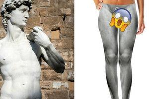 Американский магазин выпустил штаны с пенисом статуи Давида (18+)