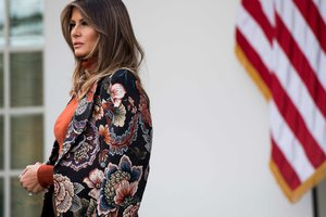 В кедах и рубашке за 75 долларов: как Мелания Трамп отметила День благодарения