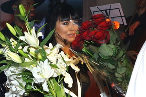 The son of Assia Akhat gave her a surprise