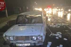 Под Киевом водитель сбил трех женщин и скрылся с места ДТП