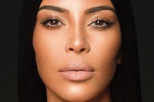 Nothing but Shine: Kim Kardashian appeared completely naked