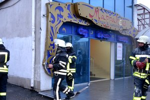 В Одессе горел торговый центр