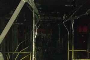 В Харькове сгорел троллейбус