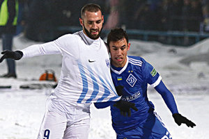 Первый футбол на снегу: как прошли матчи 1/4 финала Кубка Украины