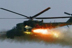 Появилось видео падения российского вертолета Ми-24 в Сирии