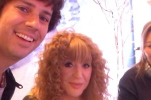 Alla Pugacheva in the bold mini had been at the birthday party of a daughter of Philip Kirkorov