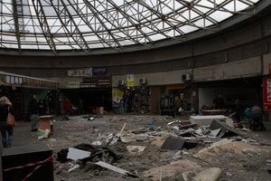 Снос киосков в Киеве: от МАФов на Севастопольской площади остались лишь горы мусора