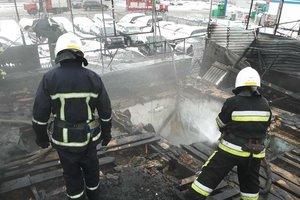 В Тернополе на СТО произошел мощный пожар
