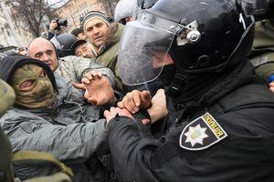 Саакашвили под Радой: глава Нацполиции обратился к митингующим