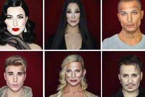 Невероятное сходство: визажист мастерски перевоплощается в звезд Голливуда