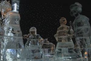 В США открыли ледяной парк аттракционов к праздникам