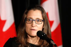 Глава МИД Канады Фриланд сделала заявление по Крыму