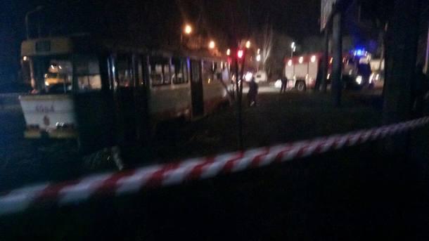 ВОдессе зажегся  трамвай: несколько пострадавших