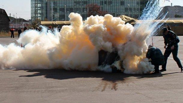Взорвалась бочка из-под неизвестного вещества. Фото: blog.dyos.ru