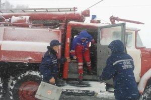 Непогода в Закарпатской области парализовала трассу Киев-Чоп