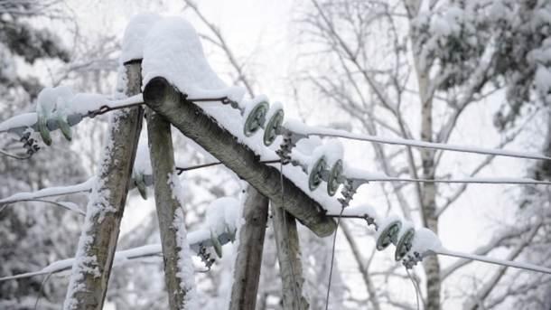 Из-за непогоды вЗападной Украине были обесточены неменее 80 населенных пунктов