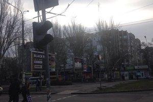 ДТП в центре Николаева: из-за светофора маршрутка столкнулась с электрокаром