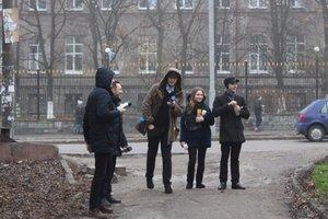 В Запорожье студенты устроили флешмоб по борьбе с наркотиками